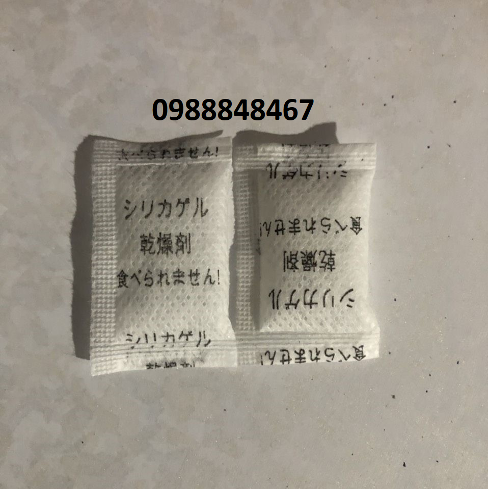 Gói hút ẩm 2g Tiếng Nhật chữ đen